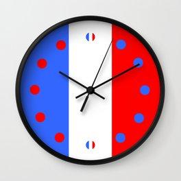Drapeau français Wall Clock