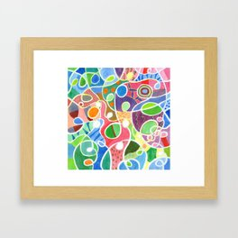 Jubilant Loops Pattern Framed Art Print