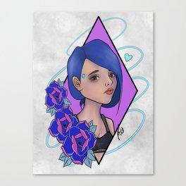 Blue Traci 2 Canvas Print