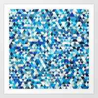 Icy triangles Art Print
