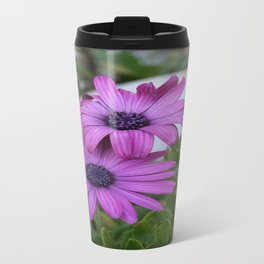 Purple and Pink African Daisy Flowers Travel Mug