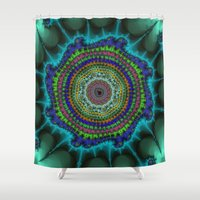 halo Shower Curtains featuring Fractal Halo by Harvey Warwick