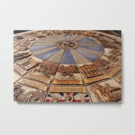 Monmouth's Millennium Ceramic Mosaic Wheel Metal Print