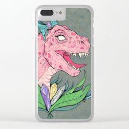 crystal dinosaur. Clear iPhone Case