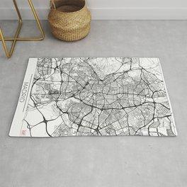 Madrid Map White Rug