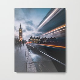 Rush hour in London Metal Print