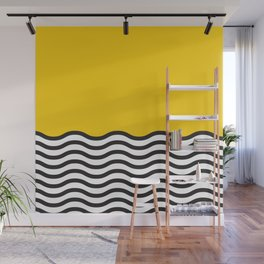 Waves of Yellow Wall Mural