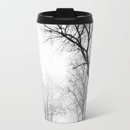 New York City At Snow Time Black and White Travel Mug