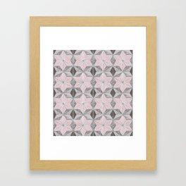 Marble star golden rose Framed Art Print