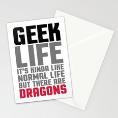 Geek Life Quote Stationery Cards