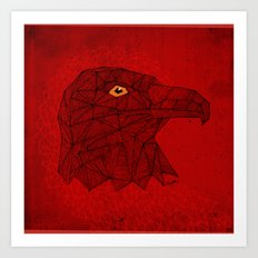 Red Eagle Art Print