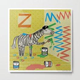 """""""Z"""" Metal Print"""