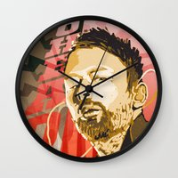 radiohead Wall Clocks featuring Radiohead by Ferdinand Bardamu