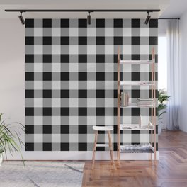 Black and White Check Wall Mural