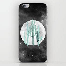 Cactus Nights Full Moon Starry Sky Sage by Nature Magick iPhone Skin