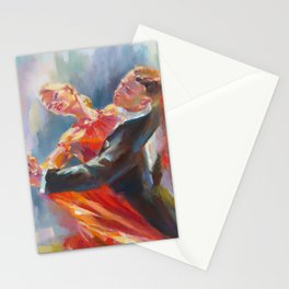 SAME FOOT LUNGE IN MOTION Stationery Cards