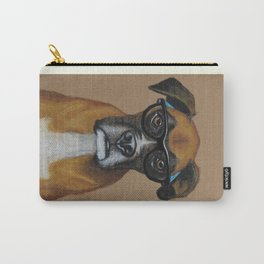 Hipster Boxer dog Carry-All Pouch