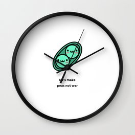 JUST A PUNNY PEAS JOKE! Wall Clock