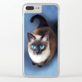 Siamese Cat (Digital Drawing) Clear iPhone Case