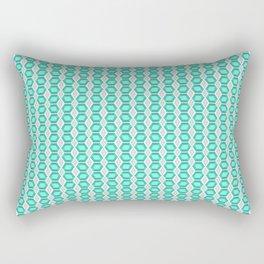 Aquamarine Silver Gemstone Pattern Rectangular Pillow