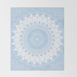 Baby Blue Boho Mandala Throw Blanket