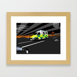 MAKE WAY FOR THE MEAT WAGON Framed Art Print