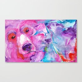 Pink Grizzly Canvas Print