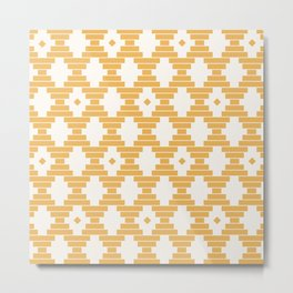 Bari Geometric Dots Metal Print