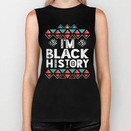I'M BLACK HISTORY Shirt Dashiki Afro Black History Month T-shirt for Women Men & Kids Biker Tank