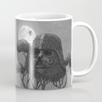forest Mugs featuring Dark Side of The Forest  by Terry Fan