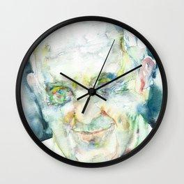 POPE FRANCIS - watercolor portrait.1 Wall Clock