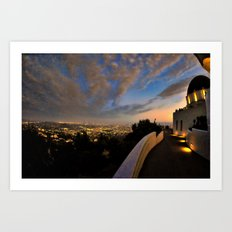 Griffith Observatory & Century City Art Print