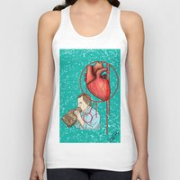 anxiety Tank Tops featuring anxiety by KNDL KRKLND