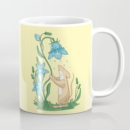 Morning Wash. Field Mouse and Bluebell Coffee Mug
