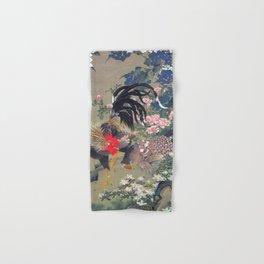 Jakuchu Niwatori Rooster Hand & Bath Towel