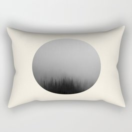 Spooky Foggy Forest Round Photo Rectangular Pillow
