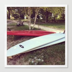 Stand Up Surfboards Water Sport Color Photography Canvas Print