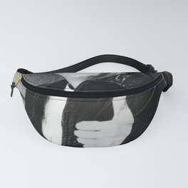 Fonzie Happy Days Black And White Painting Fanny Pack