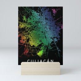 Culiacán, Sinaloa, Mexico, City, Map, Rainbow, Map, Art, Print Mini Art Print