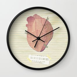Love, love will tear us apart again Wall Clock