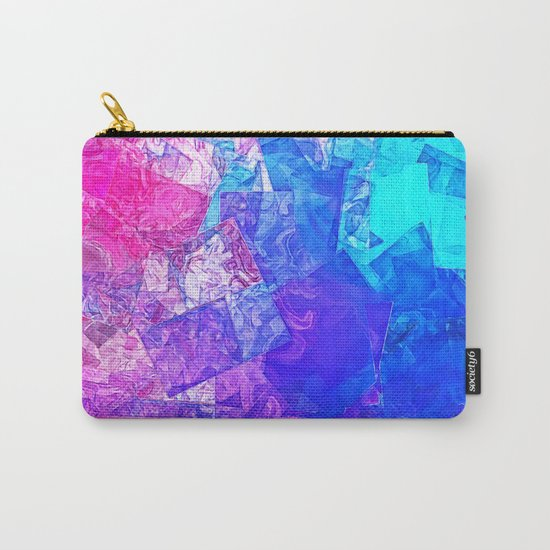 Textured Paper Overlay Carry-All Pouch