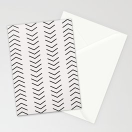 mudcloth pattern white black arrows Stationery Cards