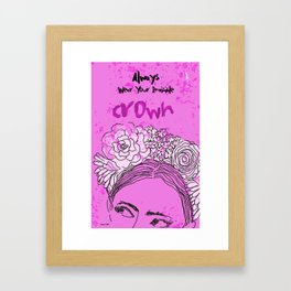 Always Wear Your Invisible Crown: Festival Flower Crown Edition Framed Art Print