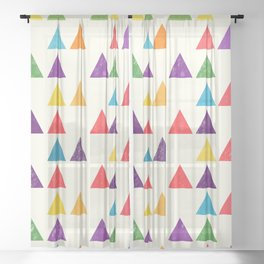 Lovely geometric Pattern XII Sheer Curtain