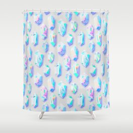 Iridescent Rainbow Crystals Shower Curtain
