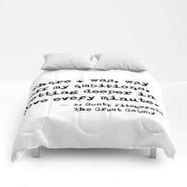Deeper in love - F Scott Fitzgerald Comforters
