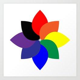 ROYGBIV +1 // Rainbow Flower Art Print