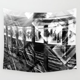 NYC - B&W New York Subway Wall Tapestry