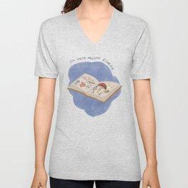 Mushy Stories / Mushroom Book Unisex V-Neck