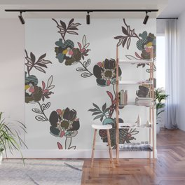 Stitched Anthomania Deep Wall Mural